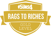 Rags to Riches Gold Badge