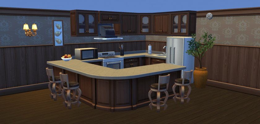 Rounded Counters and Clutter Cabinets